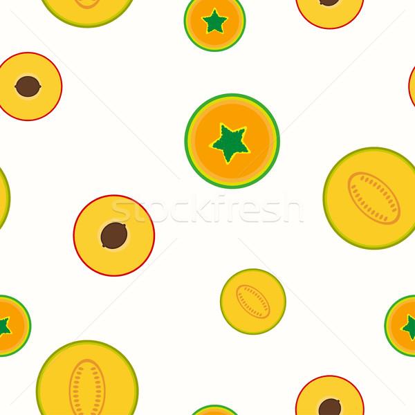 Simple fruits pattern - seamless. Stock photo © ExpressVectors