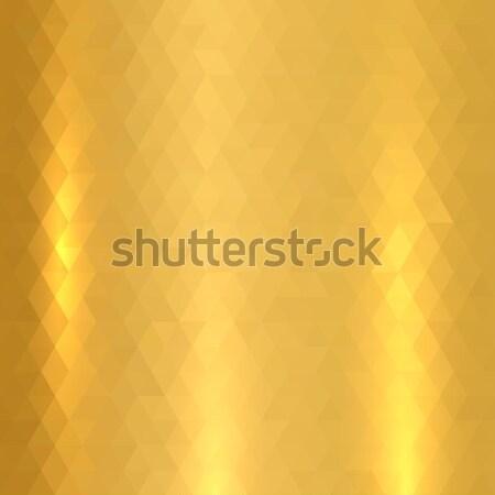 Parlak madeni altın doku eps10 ışık çerçeve Stok fotoğraf © ExpressVectors