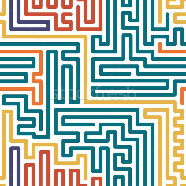 Strisce colorato senza soluzione di continuità disegno geometrico vettore moda Foto d'archivio © ExpressVectors