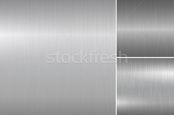 Brushed metal textures. Stock photo © ExpressVectors