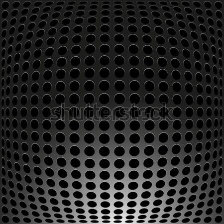 Black Metal, carbon holes background. Stock photo © ExpressVectors