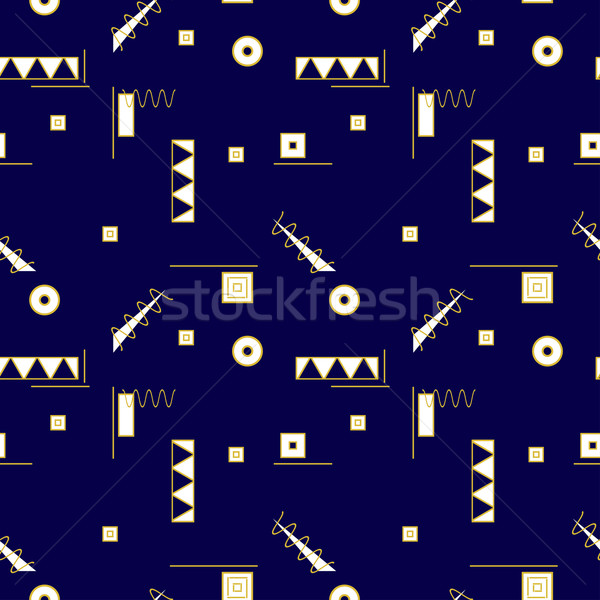 Seamless memphis pattern. Stock photo © ExpressVectors