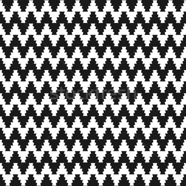 зигзаг ткань шаблон бесшовный вектора стены Сток-фото © ExpressVectors
