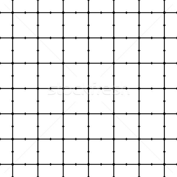 Abstract naadloos geometrisch patroon grid zwart wit textuur Stockfoto © ExpressVectors