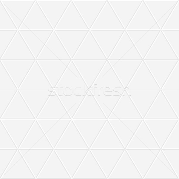 Piastrelle bianco texture senza soluzione di continuità disegno geometrico grigio Foto d'archivio © ExpressVectors