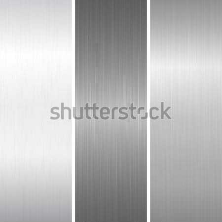 Set of polished metallic surface Stock photo © ExpressVectors