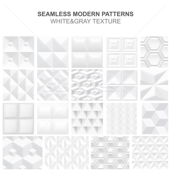 коллекция белый геометрический текстуры вектора Сток-фото © ExpressVectors