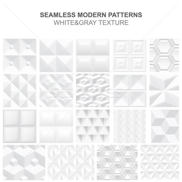 Raccolta bianco geometrica texture vettore Foto d'archivio © ExpressVectors