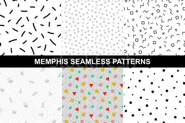 Collection of abstract memphis patterns. Stock photo © ExpressVectors