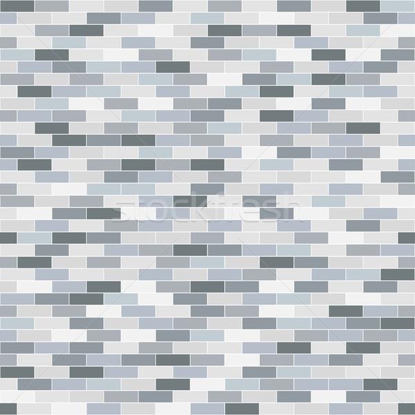 Tégla megismételhető textúra vektor végtelenített fal Stock fotó © ExpressVectors