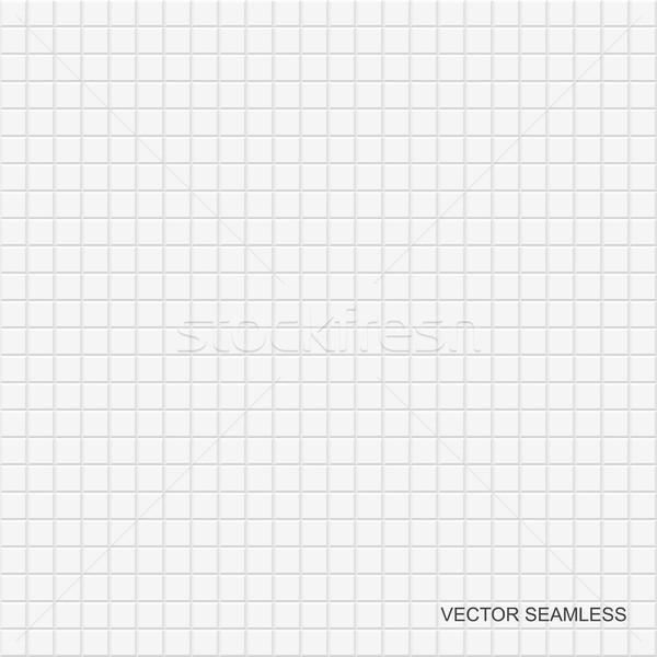 Fehér csempe textúra végtelenített vektor dekoratív Stock fotó © ExpressVectors