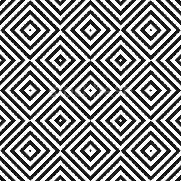 幾何学的な シームレス 幾何学模様 黒白 テクスチャ 背景 ストックフォト © ExpressVectors