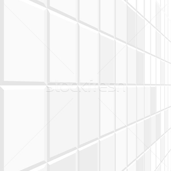 Abstract piastrelle prospettiva bianco texture non Foto d'archivio © ExpressVectors