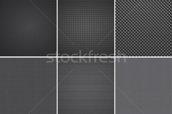 Karanlık dokular vektör toplama karbon madeni Stok fotoğraf © ExpressVectors