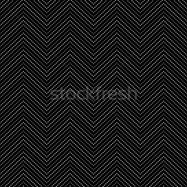 Negro punteado decorativo patrón sin costura vector Foto stock © ExpressVectors