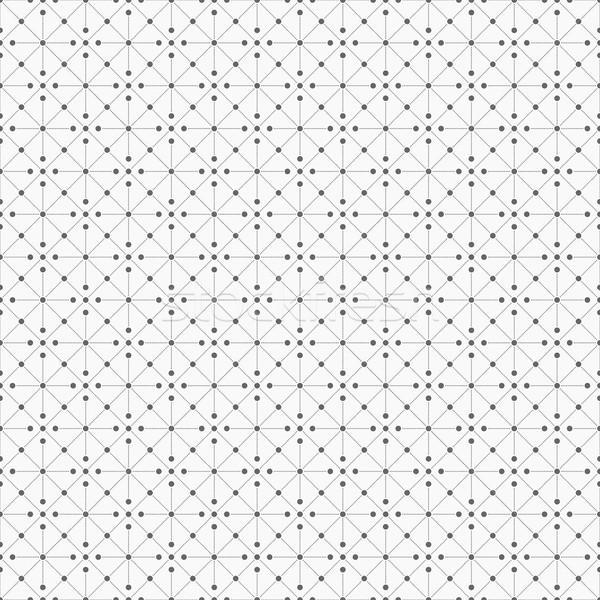 Senza soluzione di continuità disegno geometrico punti carta tecnologia vintage Foto d'archivio © ExpressVectors