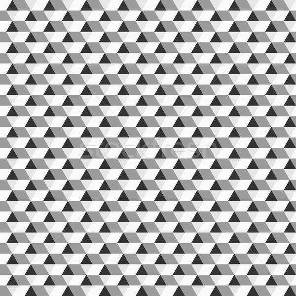 Bezszwowy geometryczny wzór monochromatyczny czarno białe tekstury ściany Zdjęcia stock © ExpressVectors