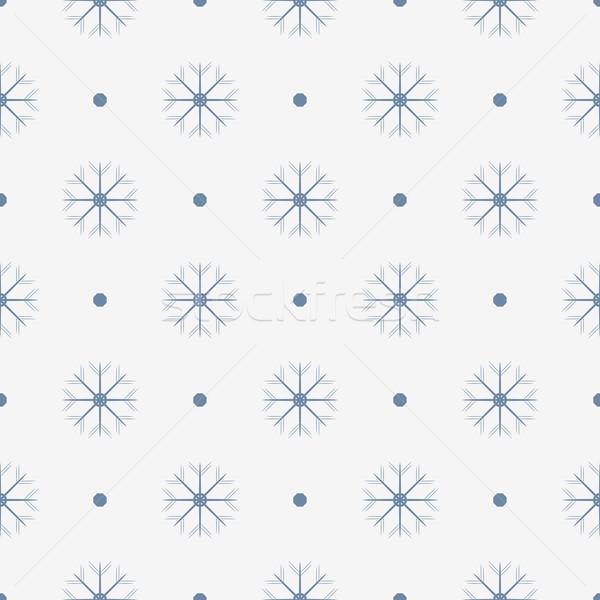 Flocons de neige décoratif vacances modèle lumière Photo stock © ExpressVectors