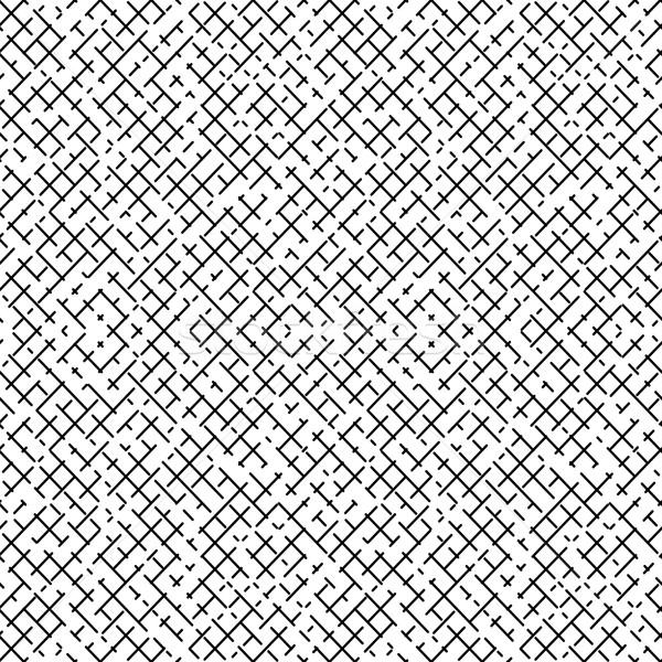Abstract seamless geometric grid pattern. Stock photo © ExpressVectors