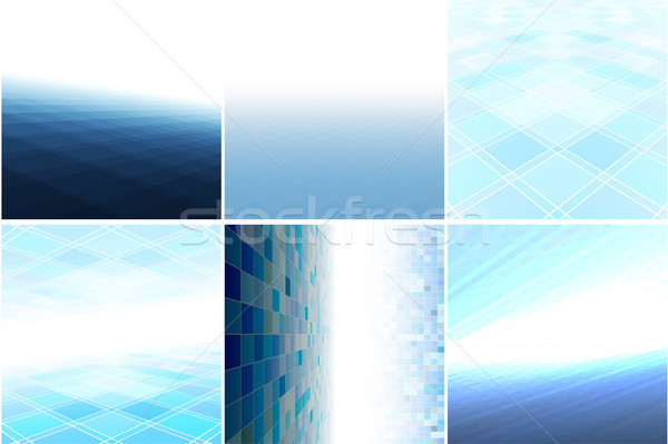 Mavi arka perspektif soyut vektör toplama Stok fotoğraf © ExpressVectors