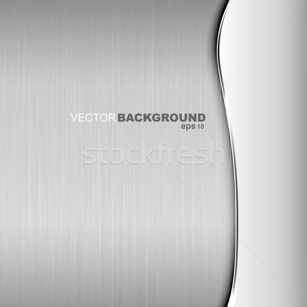 Metaliczny obyty tekstury elegancki streszczenie świetle Zdjęcia stock © ExpressVectors