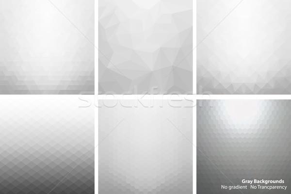 Gray abstract vector backgrounds. Stock photo © ExpressVectors