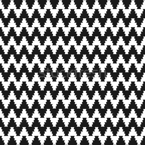 Ziguezague pano padrão sem costura vetor abstrato Foto stock © ExpressVectors