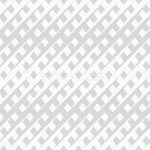 Hálózat minta vektor végtelenített csíkos fehér Stock fotó © ExpressVectors