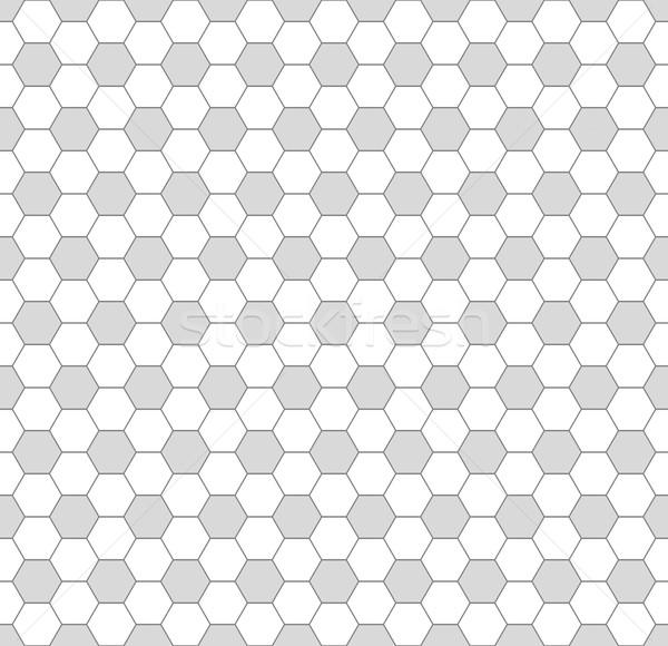 Eenvoudige geometrisch patroon naadloos grijs witte textuur Stockfoto © ExpressVectors