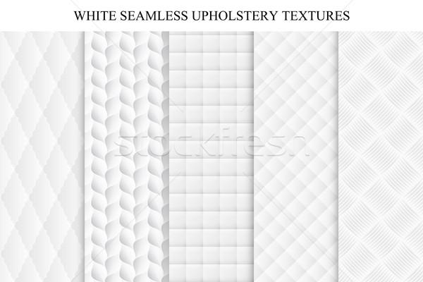シームレス 白 装飾的な ソフト テクスチャ コレクション ストックフォト © ExpressVectors
