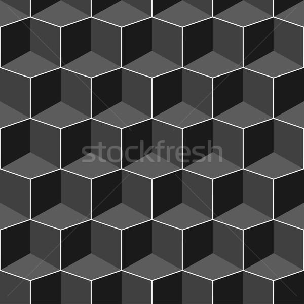 бесшовный геометрическим рисунком вектора черный стены Сток-фото © ExpressVectors