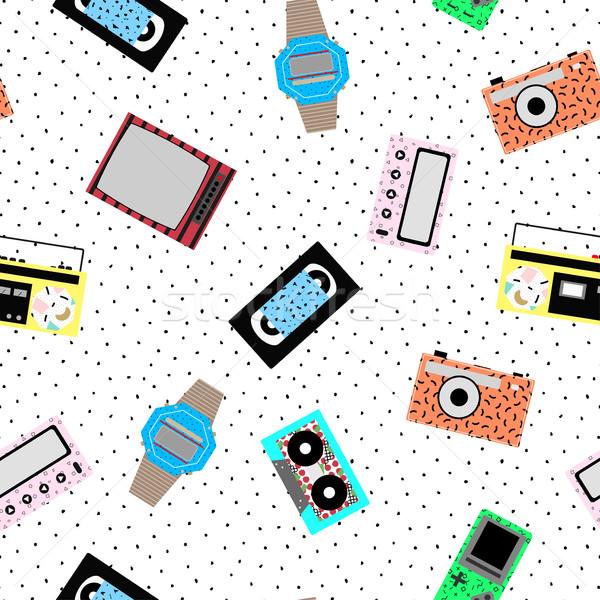 Memphis hipster pattern - seamless. Stock photo © ExpressVectors