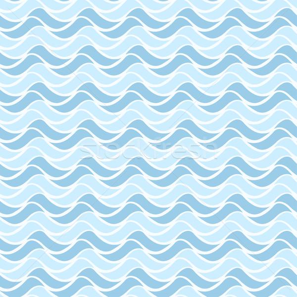 Ondulato disegno geometrico senza soluzione di continuità vettore acqua abstract Foto d'archivio © ExpressVectors