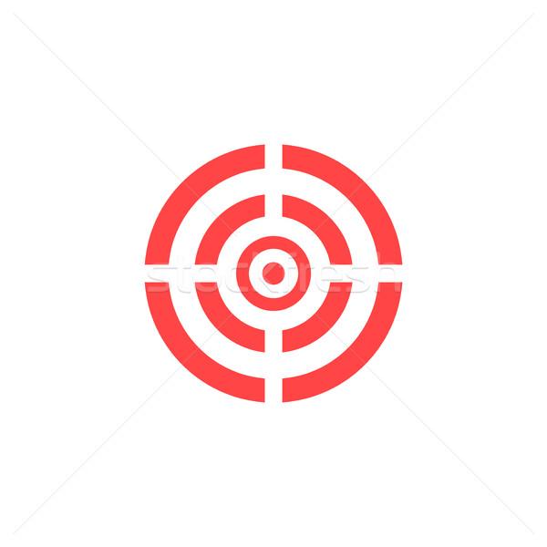 Target icona vettore rosso isolato bianco Foto d'archivio © ExpressVectors