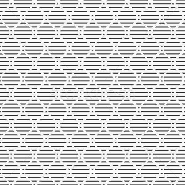 Végtelenített geometrikus minta vektor feketefehér textúra terv Stock fotó © ExpressVectors
