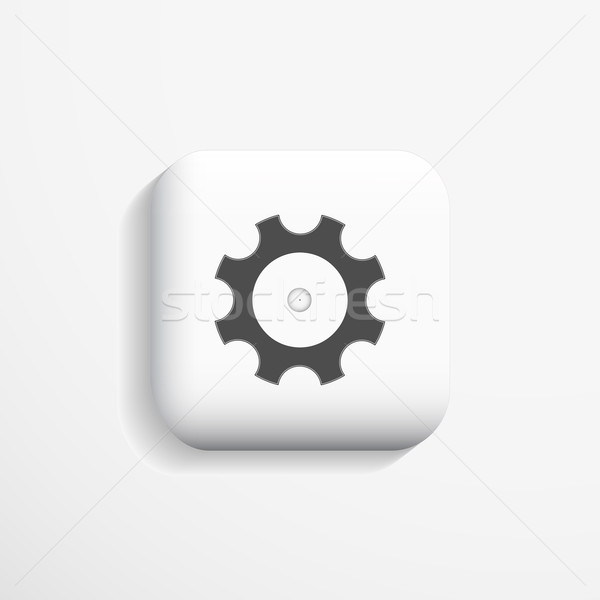 ícone configuração opção 3D fundo teia Foto stock © ExpressVectors