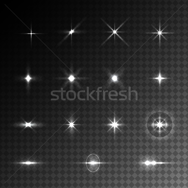 Collection of vector light effects. Stock photo © ExpressVectors