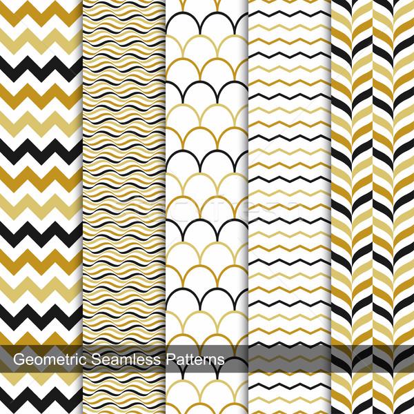 ストックフォト: コレクション · 幾何学的な · レトロな · デザイン · 壁