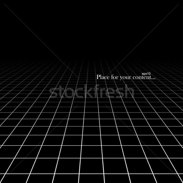 Czarny streszczenie perspektywy eps10 tle wzór Zdjęcia stock © ExpressVectors