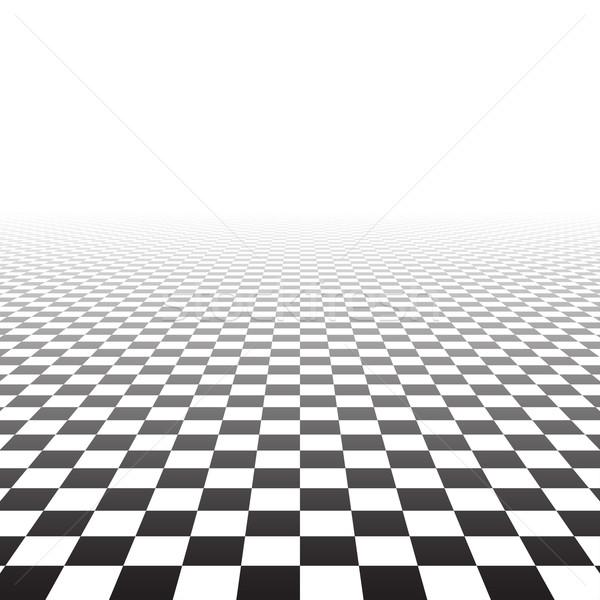 Abstract prospettiva piastrelle scacchi superficie business Foto d'archivio © ExpressVectors
