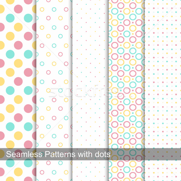 Collection of dotted seamless patterns. Stock photo © ExpressVectors