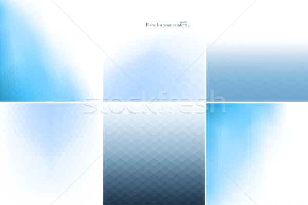 Niebieski streszczenie środowisk kolekcja świetle geometryczny Zdjęcia stock © ExpressVectors