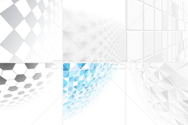 коллекция аннотация фоны перспективы eps10 синий Сток-фото © ExpressVectors