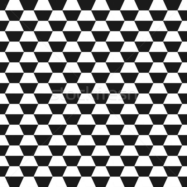 Hatszög mértani végtelenített vektor monokróm textúra Stock fotó © ExpressVectors