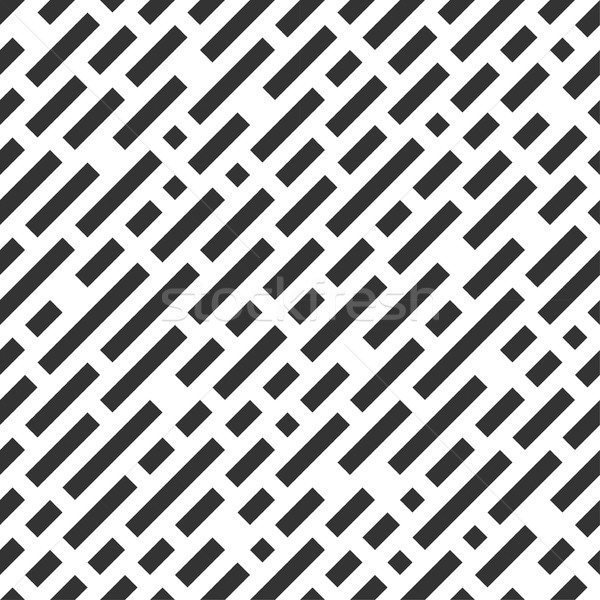 Repeatable white pattern with black stripes. Stock photo © ExpressVectors