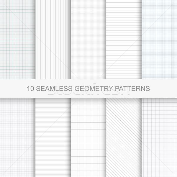 Zestaw proste wektora geometria wzorców streszczenie Zdjęcia stock © ExpressVectors