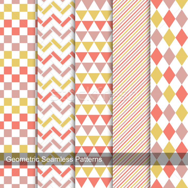 Geometric patterns - seamless vector collection. Stock photo © ExpressVectors