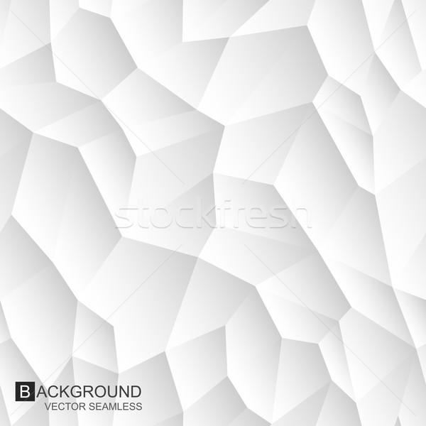 Absztrakt végtelenített textúra fehér mértani fal Stock fotó © ExpressVectors
