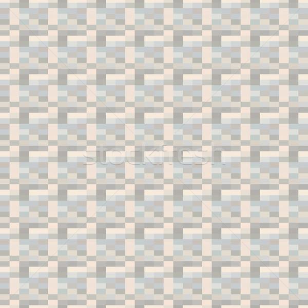 Mozaik pixel végtelenített mértani megismételhető minta Stock fotó © ExpressVectors