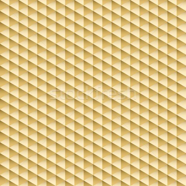 Disegno geometrico senza soluzione di continuità tessitura oro oro 3D texture Foto d'archivio © ExpressVectors